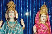 Lord Vishnu and Laxmi